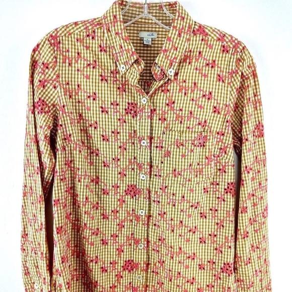 2709e685 Anthropologie Tops | Odille Shirt Cotton Gingham Eyelet | Poshmark